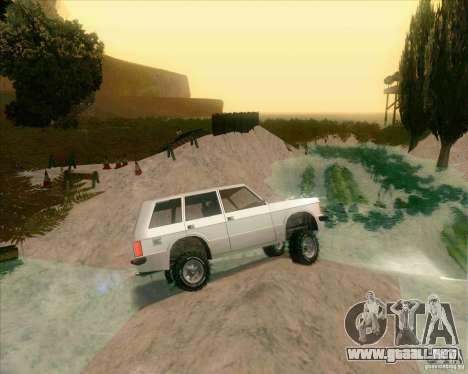 Off-Road Track para GTA San Andreas sucesivamente de pantalla