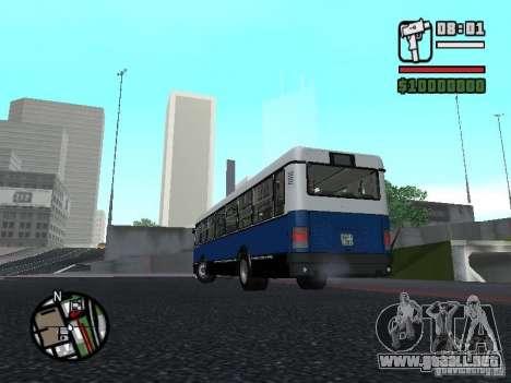 Ikarus 415.02 para visión interna GTA San Andreas