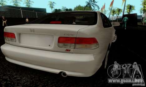 Honda Civic 1999 Si Coupe para visión interna GTA San Andreas