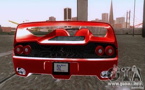 Ferrari F50 v1.0.0 1995 para la visión correcta GTA San Andreas