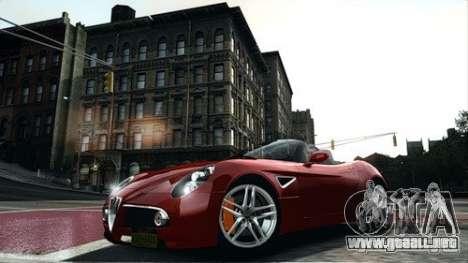 Alfa Romeo 8C Spyder para GTA 4 left