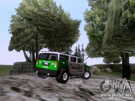 Hummer H2 Polizei para la visión correcta GTA San Andreas