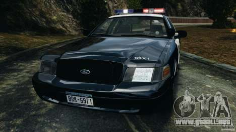 Ford Crown Victoria Police Interceptor 2003 LCPD para GTA 4 vista interior