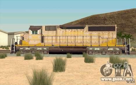 Clinchfield SD40 (Yellow & Grey) para GTA San Andreas left