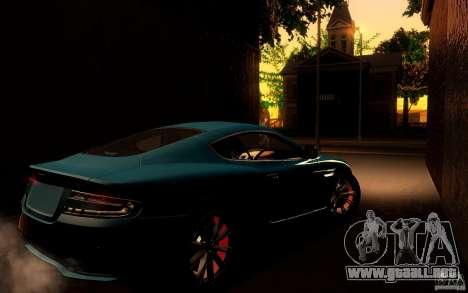 Aston Martin Virage V1.0 para GTA San Andreas vista hacia atrás
