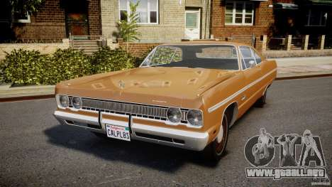 Plymouth Fury III Coupe 1969 para GTA 4