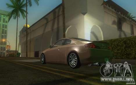 Infiniti G35 - Stock para GTA San Andreas vista posterior izquierda