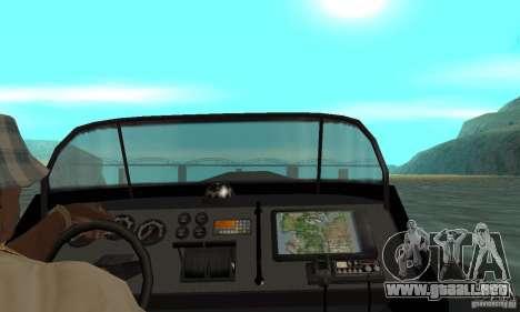 GTAIV Dinghy para GTA San Andreas vista hacia atrás