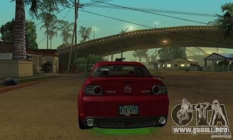 Las luces de neón verdes para GTA San Andreas segunda pantalla