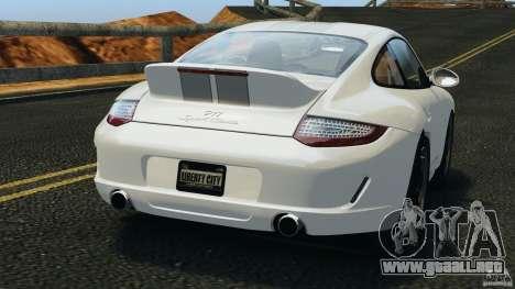 Porsche 911 Sport Classic 2010 para GTA 4 Vista posterior izquierda
