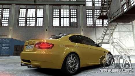 BMW M3 E92 2008 para GTA 4 left