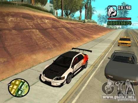Mitsubishi Lancer Evo IX SpeedHunters Edition para la visión correcta GTA San Andreas