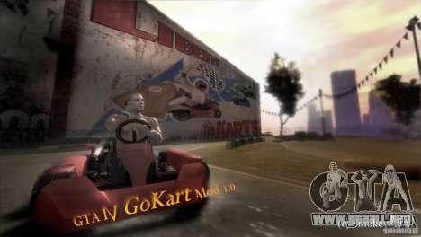 GoKart Mod 1.0 para GTA 4 Vista posterior izquierda