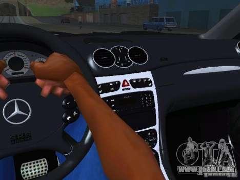 Mercedes-Benz CLK55 AMG para la vista superior GTA San Andreas