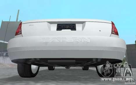 Saturn Ion Quad Coupe para GTA San Andreas vista hacia atrás
