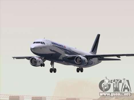 Airbus A320-211 Air France para vista inferior GTA San Andreas