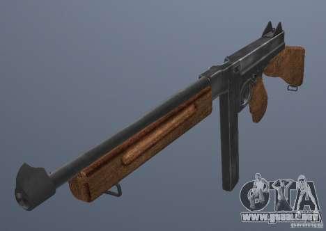 M1 Thompson para GTA San Andreas segunda pantalla