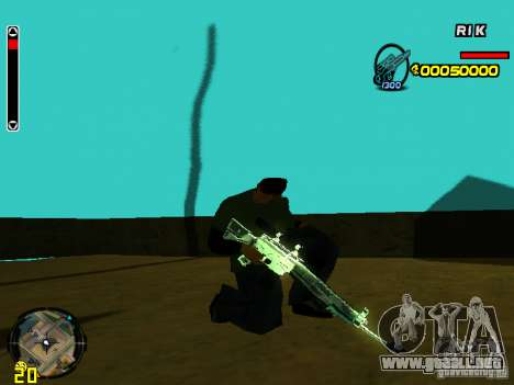 Blue weapons pack para GTA San Andreas tercera pantalla