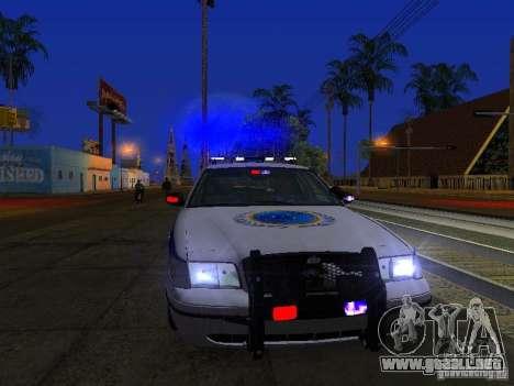 Ford Crown Victoria Police Interceptor 2008 para la vista superior GTA San Andreas