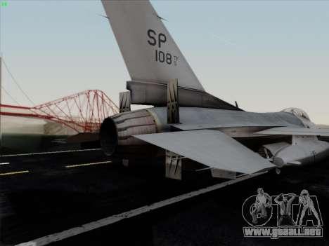 F-16C Warwolf para el motor de GTA San Andreas