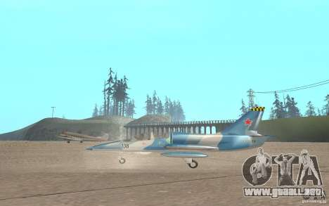 L-39 Albatross para GTA San Andreas vista posterior izquierda