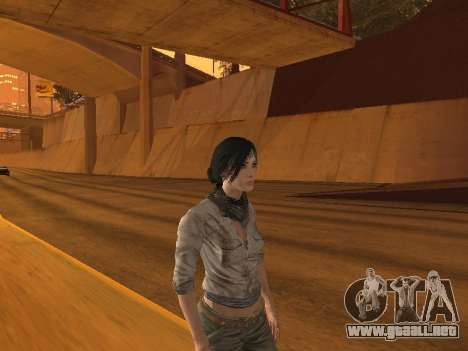 FaryCry 3 Liza Snow para GTA San Andreas segunda pantalla