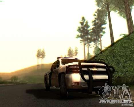 Chevrolet Silverado Police para GTA San Andreas interior