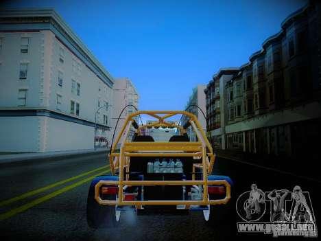 Buggy From Crash Rime 2 para GTA San Andreas vista posterior izquierda