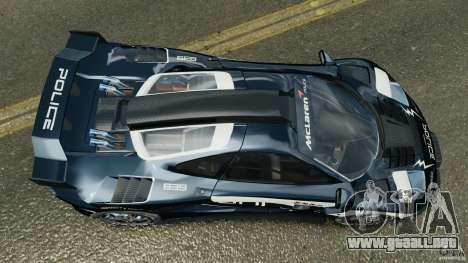 McLaren F1 ELITE Police [ELS] para GTA 4 visión correcta