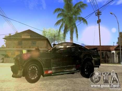 Ford Mustang Death Race para GTA San Andreas vista hacia atrás