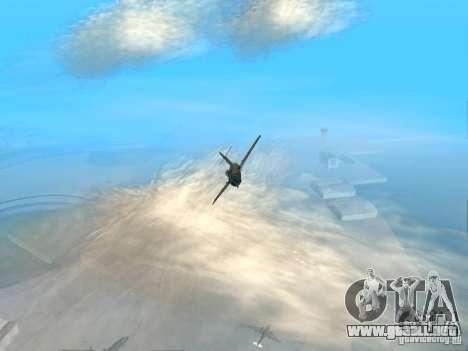 MiG 15 con armas para GTA San Andreas vista hacia atrás
