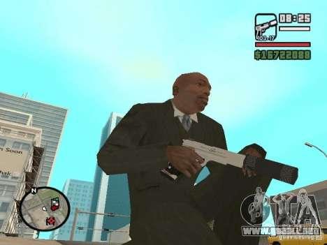 Silverballer silenciado de Hitman para GTA San Andreas segunda pantalla