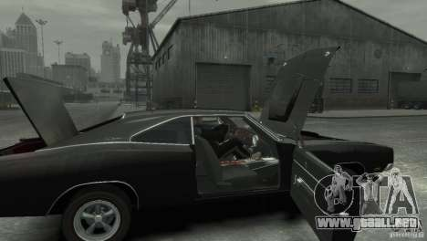 Dodge Charger RT 1969 Tun para GTA 4 vista hacia atrás