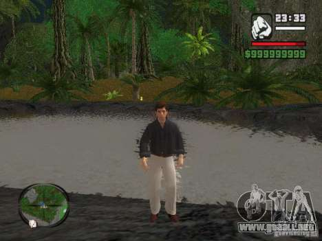 Tony Montana en una camisa para GTA San Andreas