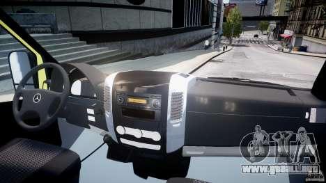 Mercedes-Benz Sprinter PK731 Ambulance [ELS] para GTA 4 visión correcta