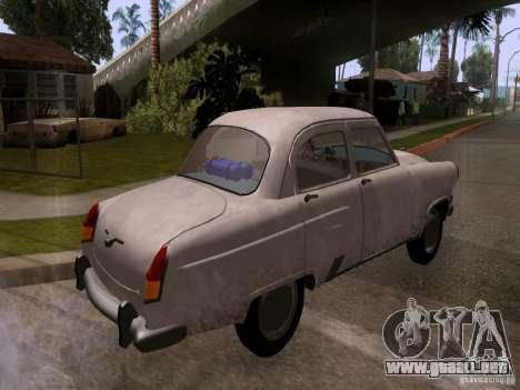 GAZ 21 Volga para GTA San Andreas vista posterior izquierda