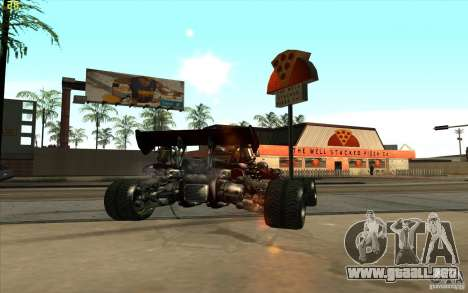 XCALIBUR CD 4.0 XS-XL RACE Edition para GTA San Andreas vista posterior izquierda