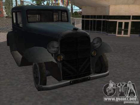 El vehículo de la segunda guerra mundial para GTA San Andreas vista hacia atrás