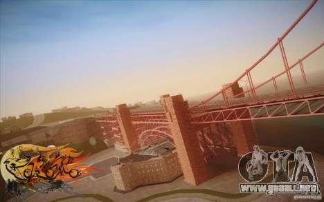 New Golden Gate bridge SF v1.0 para GTA San Andreas sexta pantalla