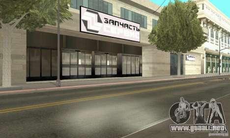 Servicio de parte de cinco estrellas y repuestos para GTA San Andreas