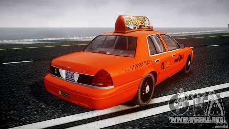 Ford Crown Victoria 2003 v.2 Taxi para GTA 4 vista lateral