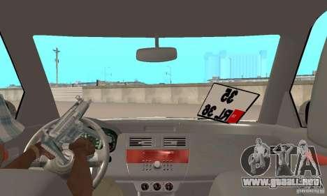 Suzuki Swift Tuning para GTA San Andreas vista hacia atrás