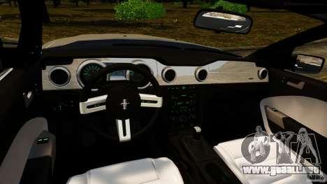 Ford Mustang GT 2005 para GTA 4 vista hacia atrás