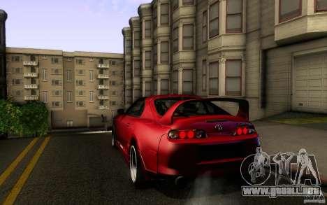 Toyota Supra D1 1998 para la visión correcta GTA San Andreas