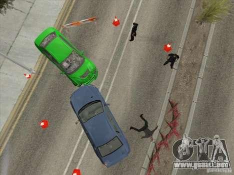 Accidente en la carretera para GTA San Andreas quinta pantalla