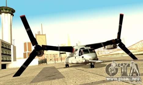MV-22 Osprey para la visión correcta GTA San Andreas