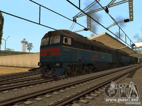 Modificación del ferrocarril III para GTA San Andreas tercera pantalla