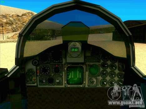F-5E Tiger para visión interna GTA San Andreas
