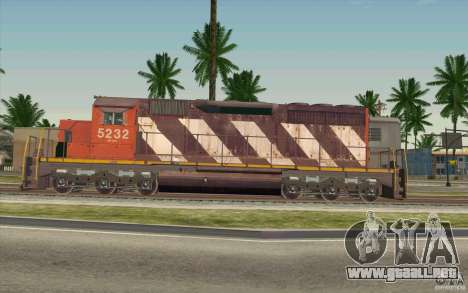 CN SD40 ZEBRA STRIPES para GTA San Andreas left