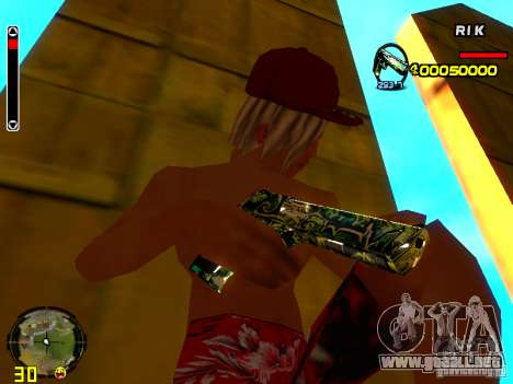 Grafiti weapons pack para GTA San Andreas